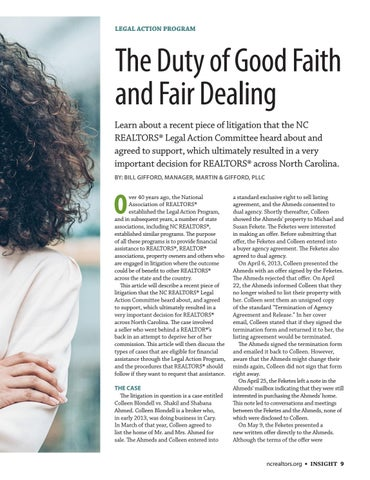 Page 9 of The Duty of Good Faith and Fair Dealing