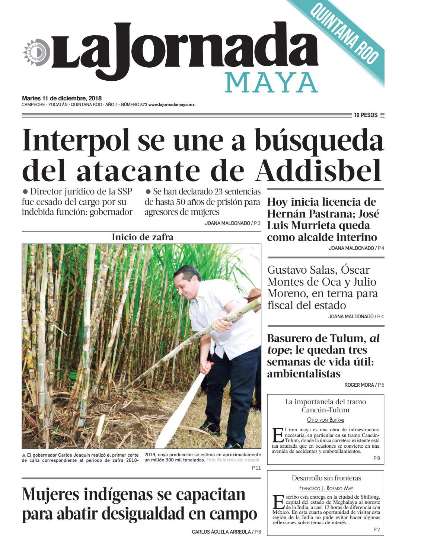 La Jornada Maya · martes 11 de diciembre de 2018 by La Jornada Maya - issuu 53587fcc211d4