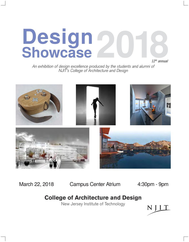 Design Showcase 2018 By Njit Issuu
