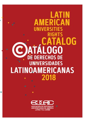 Catalogo De Derechos Universidades Latinoamericanas 2018 By