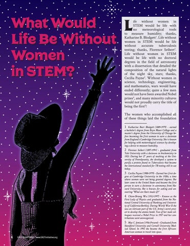Page 8 of What Would Life Be Without Women in STEM?