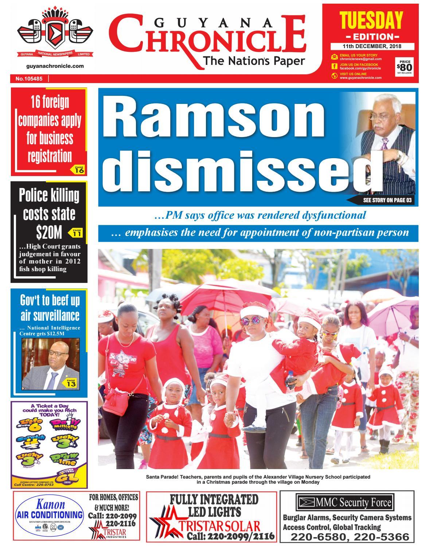 Guyana Chronicle E-paper 12-11-2018