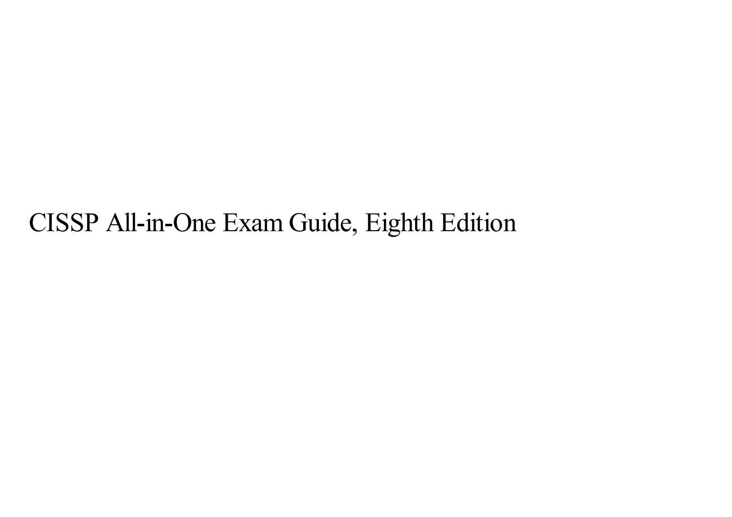 CISSP All-in-One Exam Guide, Eighth Edition by flowersisterq