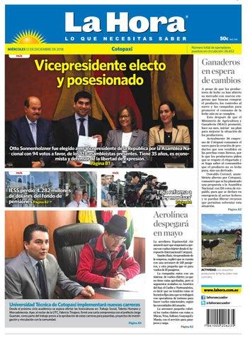 Cotopaxi 12 de diciembre de 2018 by Diario La Hora Ecuador - issuu 6ef5d9209ce