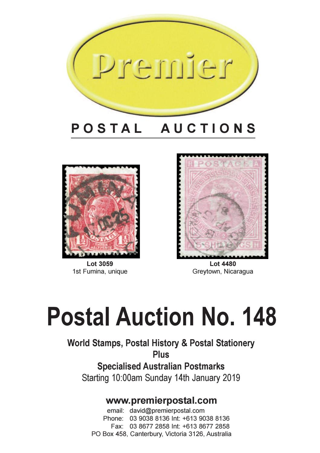 Premier Postal Auctions # 148 by David Wood - issuu