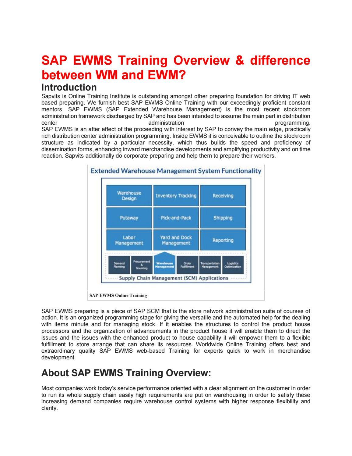 SAP EWM Training Material PDF by shruti allentics - issuu