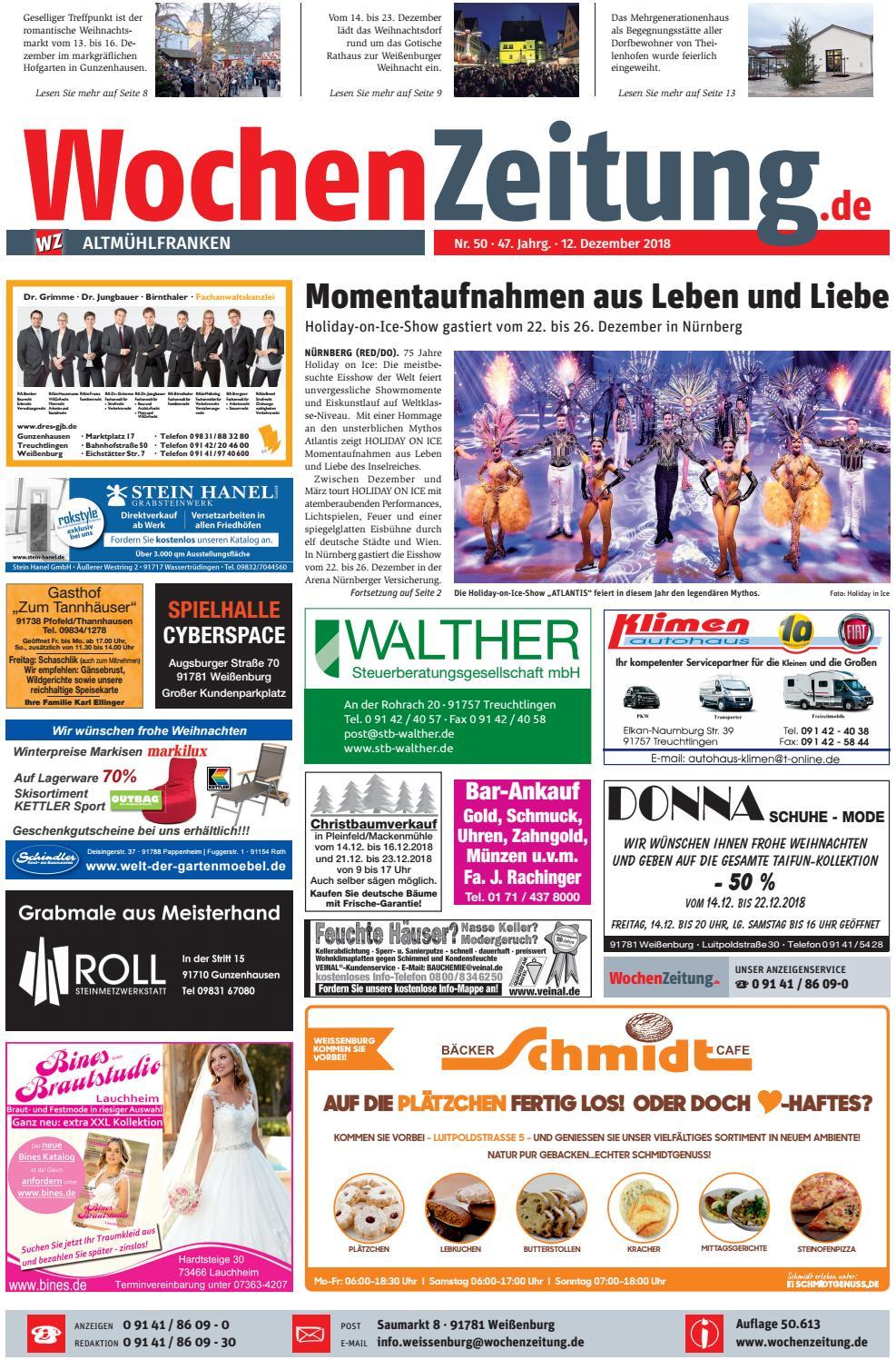 Wochenzeitung Altmuhlfranken Kw 50 18 By Wochenzeitung