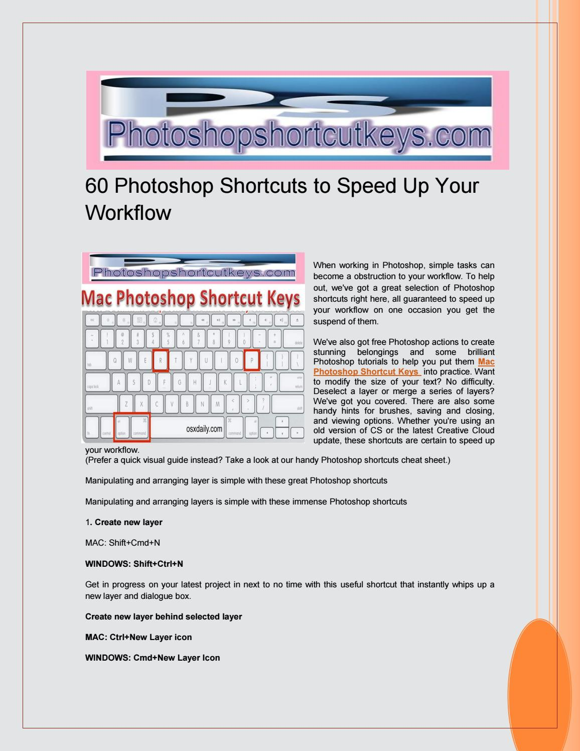 60 Photoshop Shortcuts to Speed Up Your Workflow by