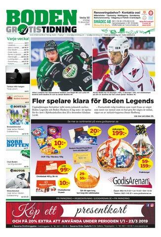 Boden Gratistidning vecka 50, 2018 by Svenska