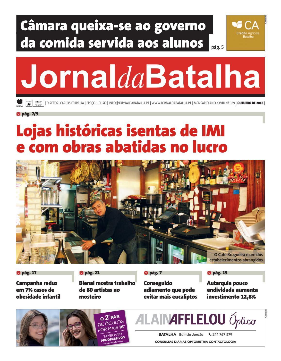 1d989bacb JORNAL DA BATALHA EDIÇÃO DE OUTUBRO 2018 by Jornal Batalha - issuu