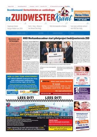 65f7f31385a De ZuidwesterKrant week 50 - 2018 by HaagMedia - issuu