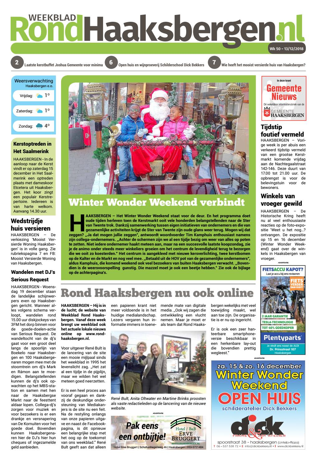 Weekblad By Rond Roha2018 wk50 Issuu Haaksbergen 453ARLj
