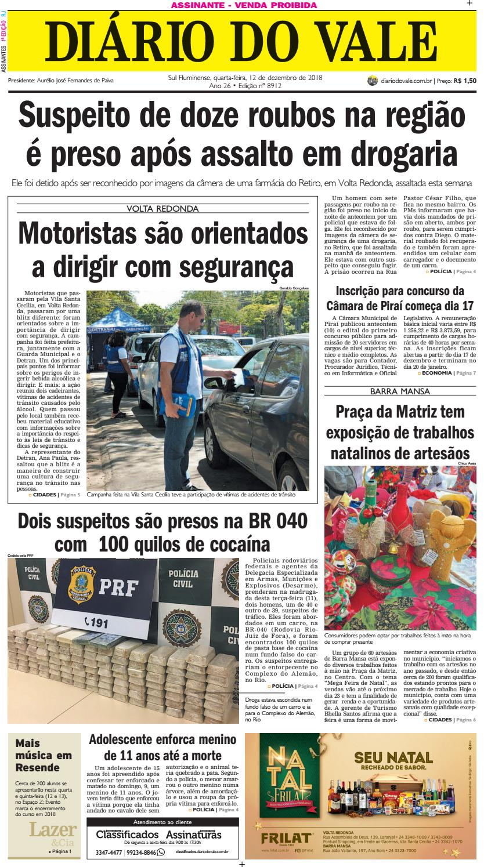 39dfa5f73a2 8912 - Diario - Quarta-feira - 12.12.2018 by Diário do Vale - issuu