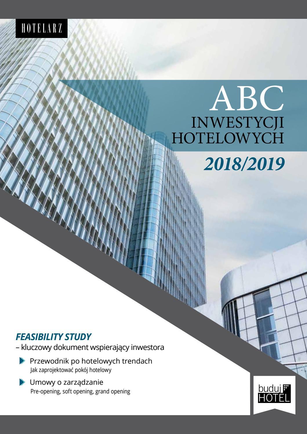 Abc Inwesycji Hotelowch 20182019 Buduj Hotel By Polskie