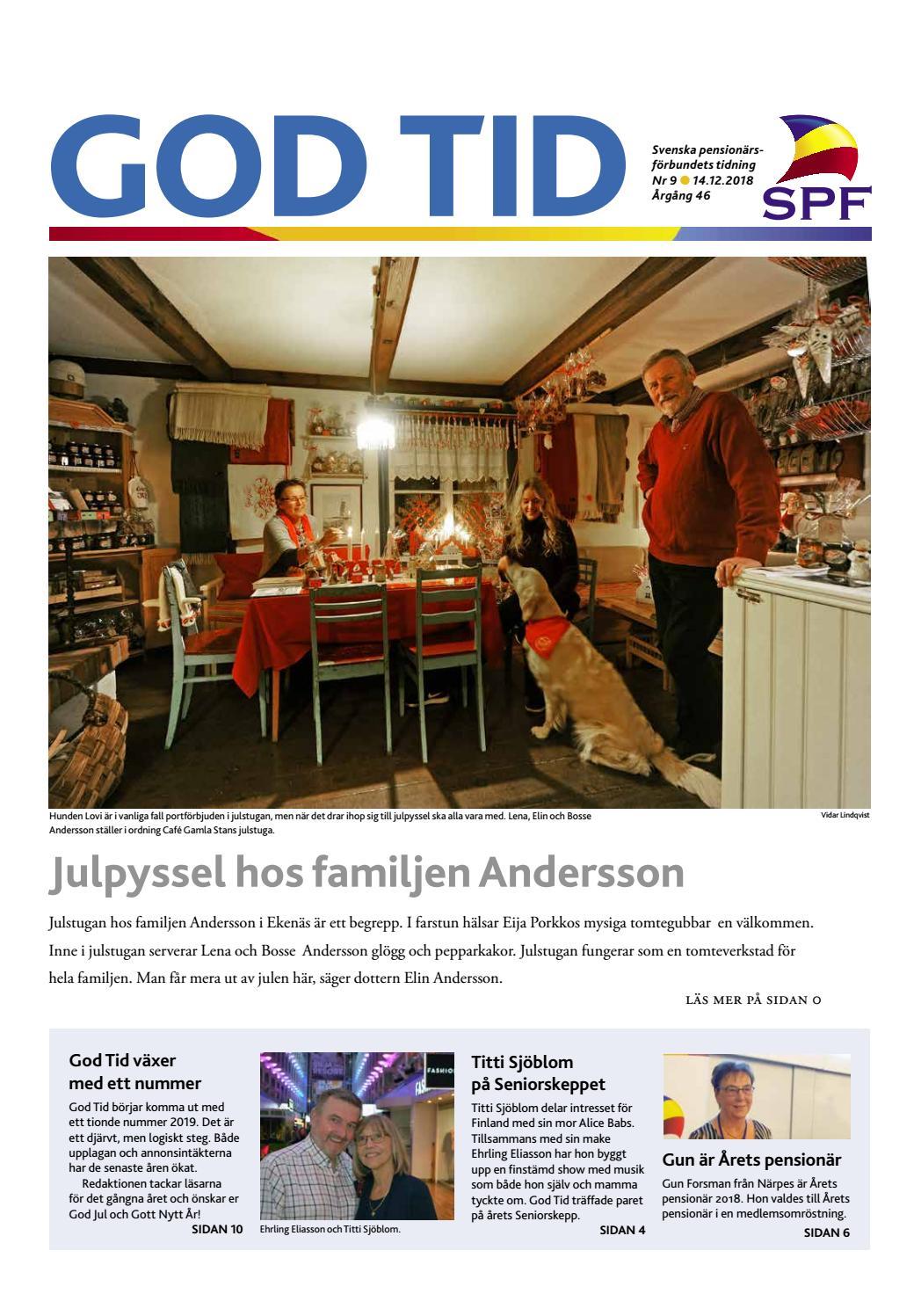 God Tid 9 2019 by Svenska pensionärsförbundet eeea3752f6b96