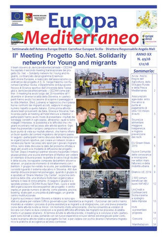 44c6624910 Europa & Mediterraneo n. 49 del 12 dicembre 2018 by Euromed ...