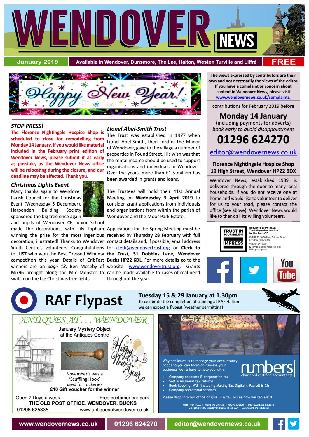 0b5d2744 Wendover News January 2019 by Wendover News - issuu