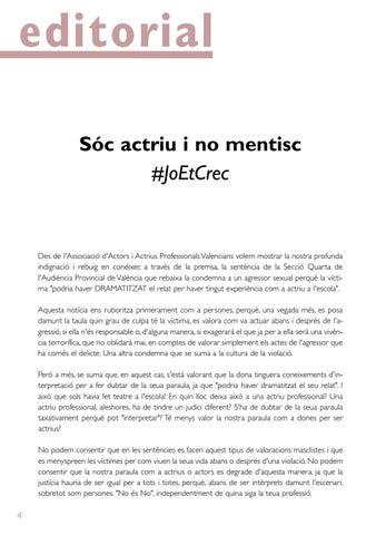 Page 4 of Sóc actriu i no mentisc, #Joetcrec + Demandes de la Nova Junta Directiva de l'AAPV