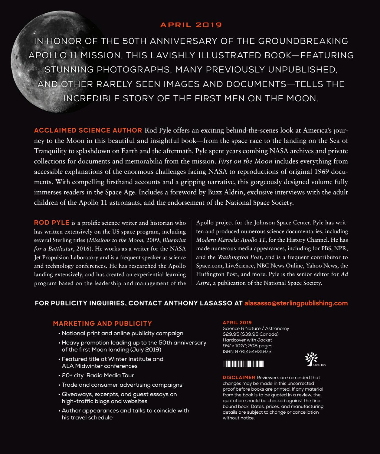 First on the Moon by Sterling Publishing - issuu