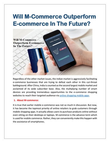 47056d5557 Know Whether M-Commerce Outperform E-commerce In The Future? by ...