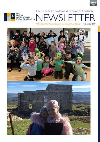Bism Newsletter October 2018 By British Schools Foundation