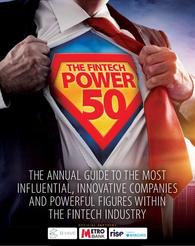 dc59e249b The Fintech Power 50 Annual Guide 2018 19 by thepower50 - issuu