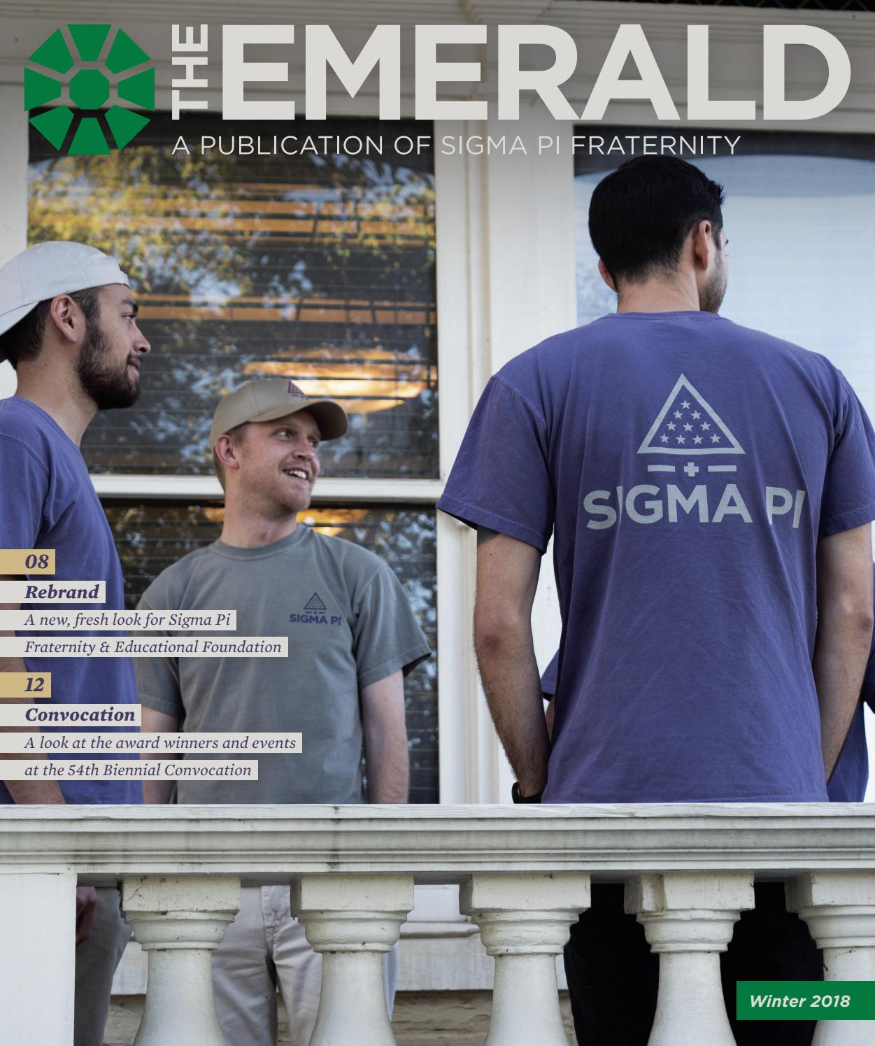 The Emerald - Winter 2018 by Sigma Pi Fraternity - issuu