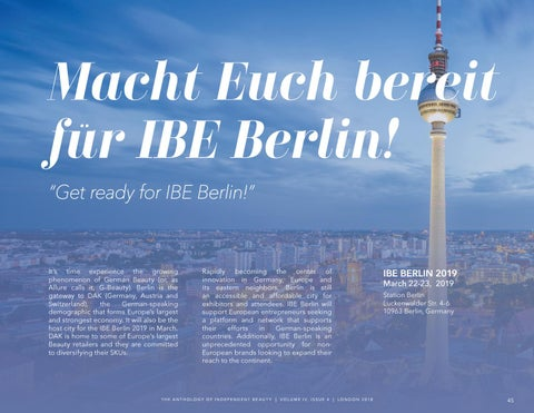 Page 45 of Get Ready for IBE Berlin 2019
