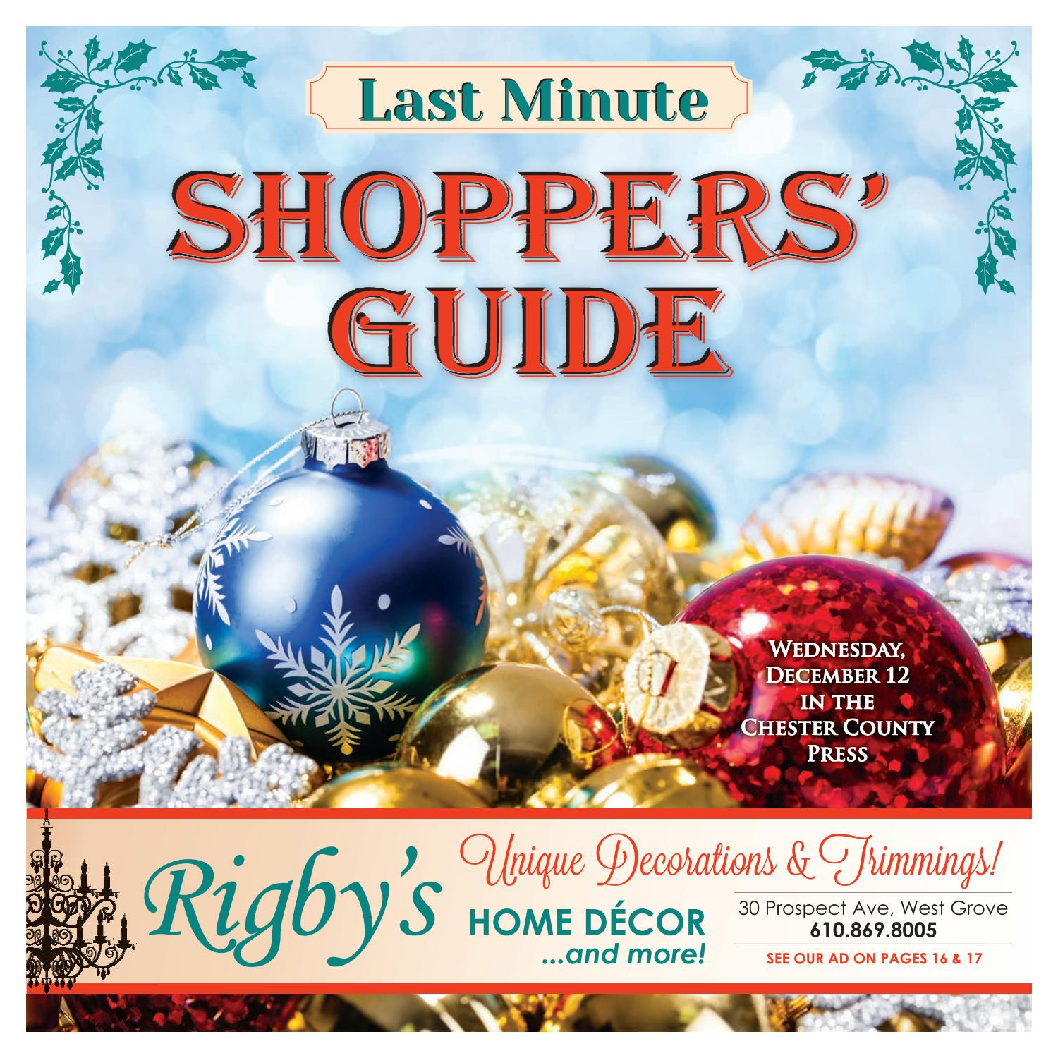 Last Minute Shoppers' Guide 2018 by Ad Pro Inc  - issuu