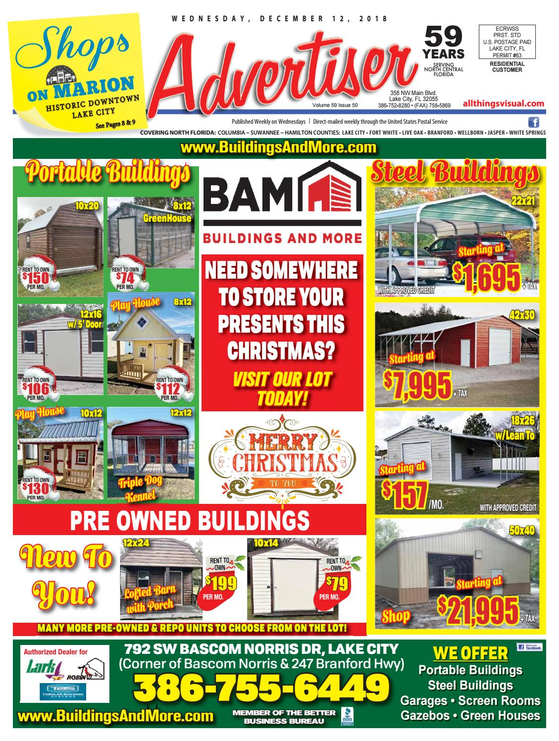 12122018 - Advertiser by North Central Florida Advertiser - issuu