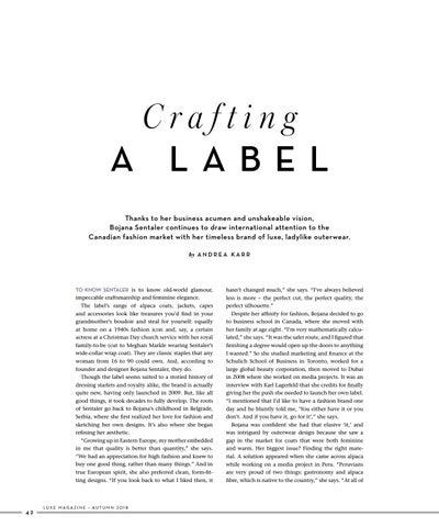 Page 44 of Bojana Sentaler: Crafting a Label