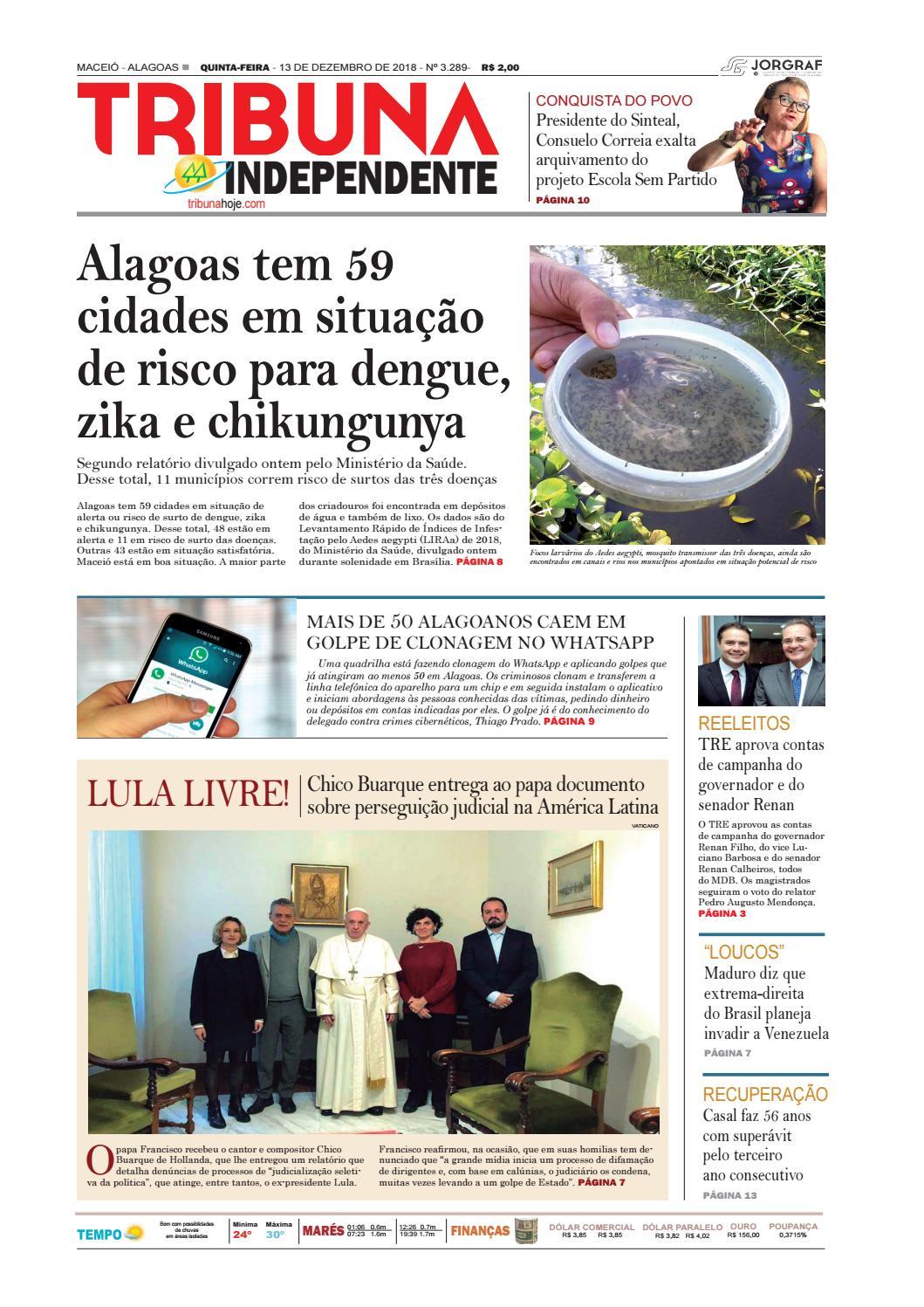 d81126eb8 Edição número 3289 - 13 de dezembro de 2018 by Tribuna Hoje - issuu