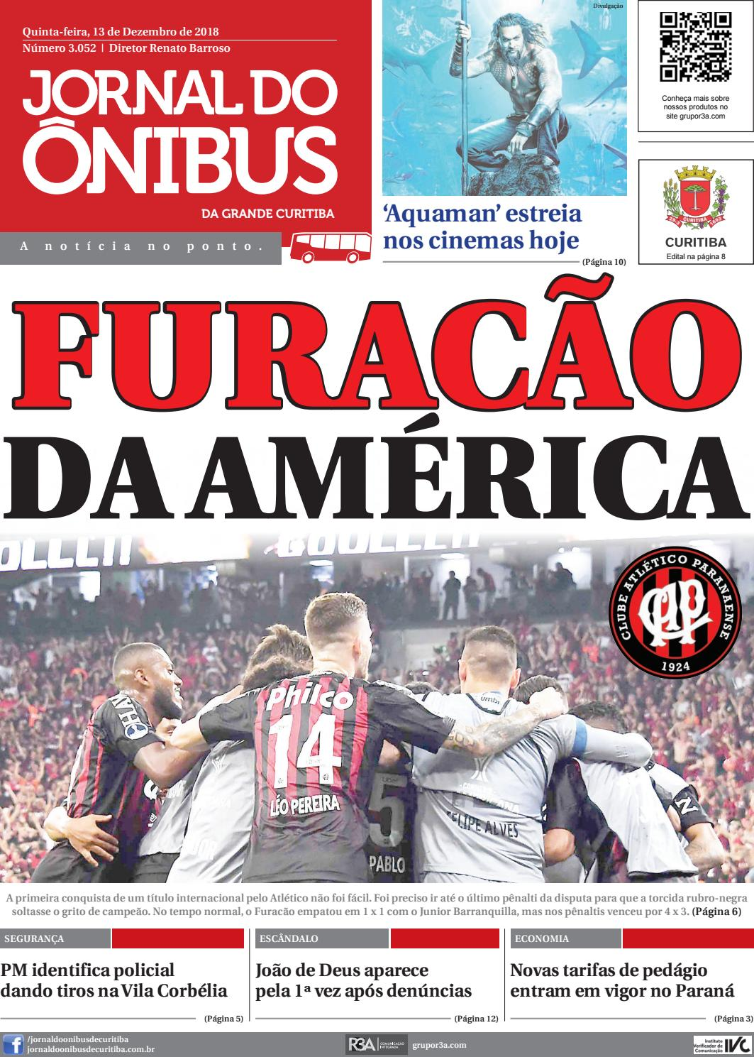 Jornal do Ônibus de Curitiba - 13/12/18 by Editora Correio