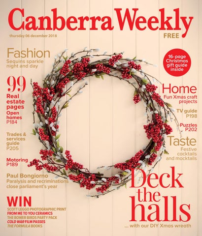 95dca7f76e 06 December 2018 by Canberra Weekly Magazine - issuu