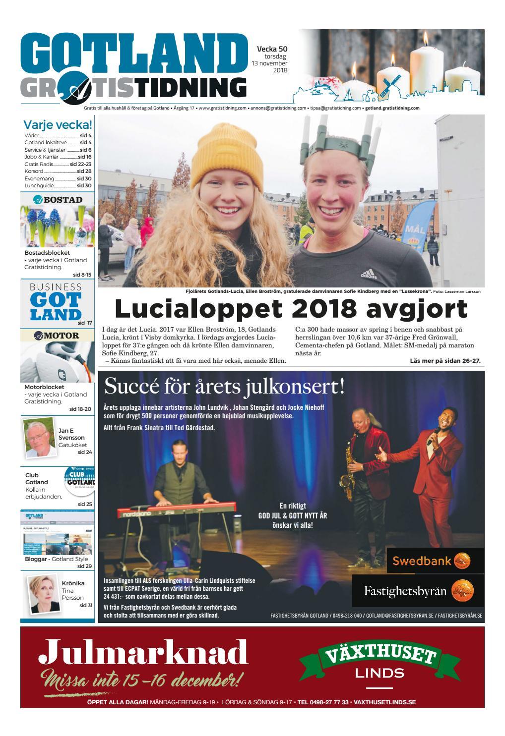 1e23e8ea586f Gotland Gratistidning vecka 50, 2018 by Svenska Civildatalogerna AB - issuu