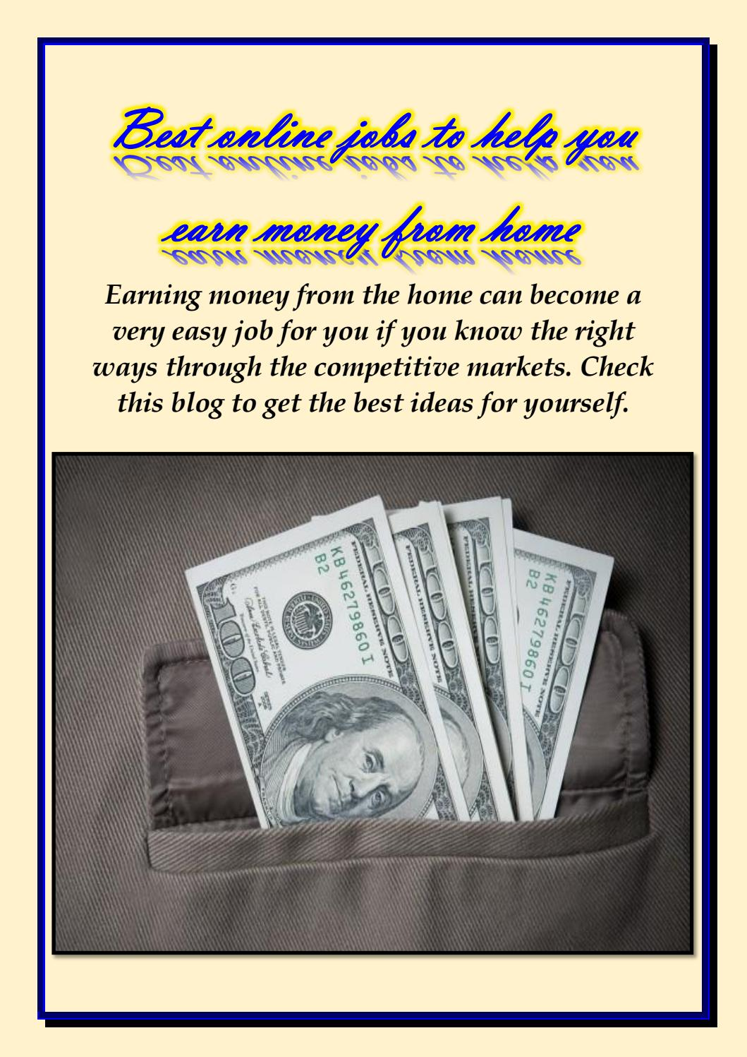 Best online job for earning money as a