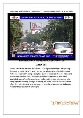 Maximum Reach Billboard Advertising Companies Mumbai