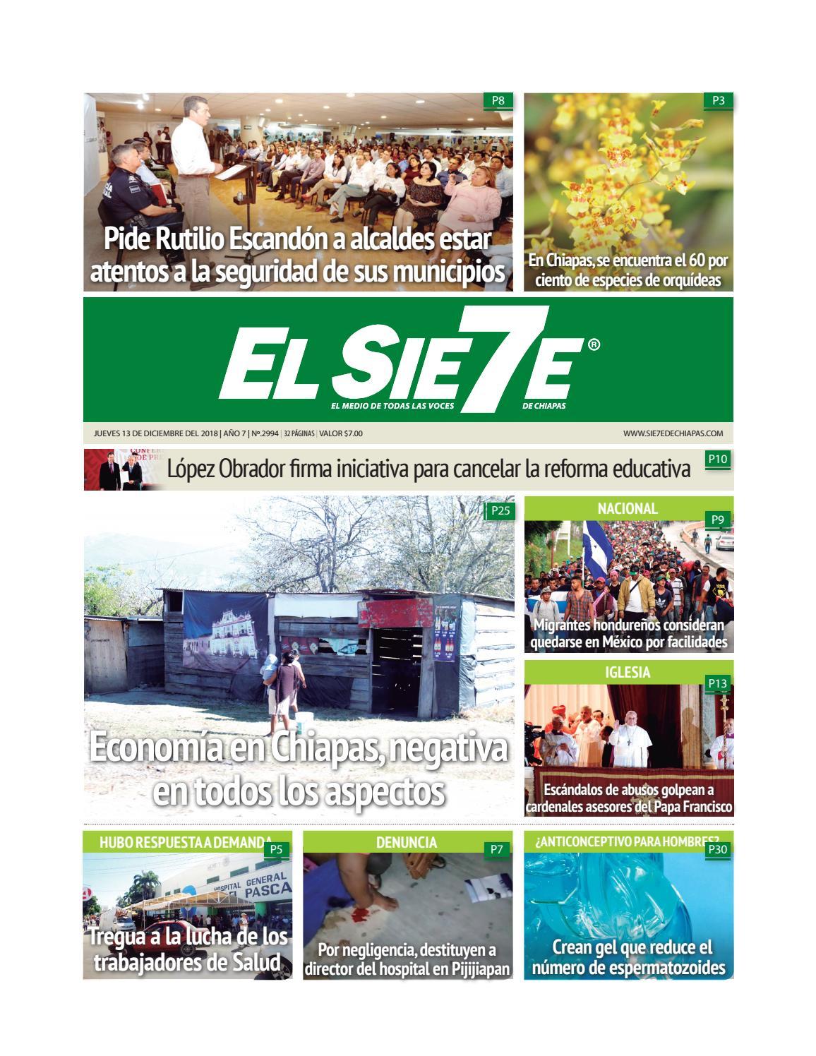 13/12/18 by El Sie7e de Chiapas - issuu