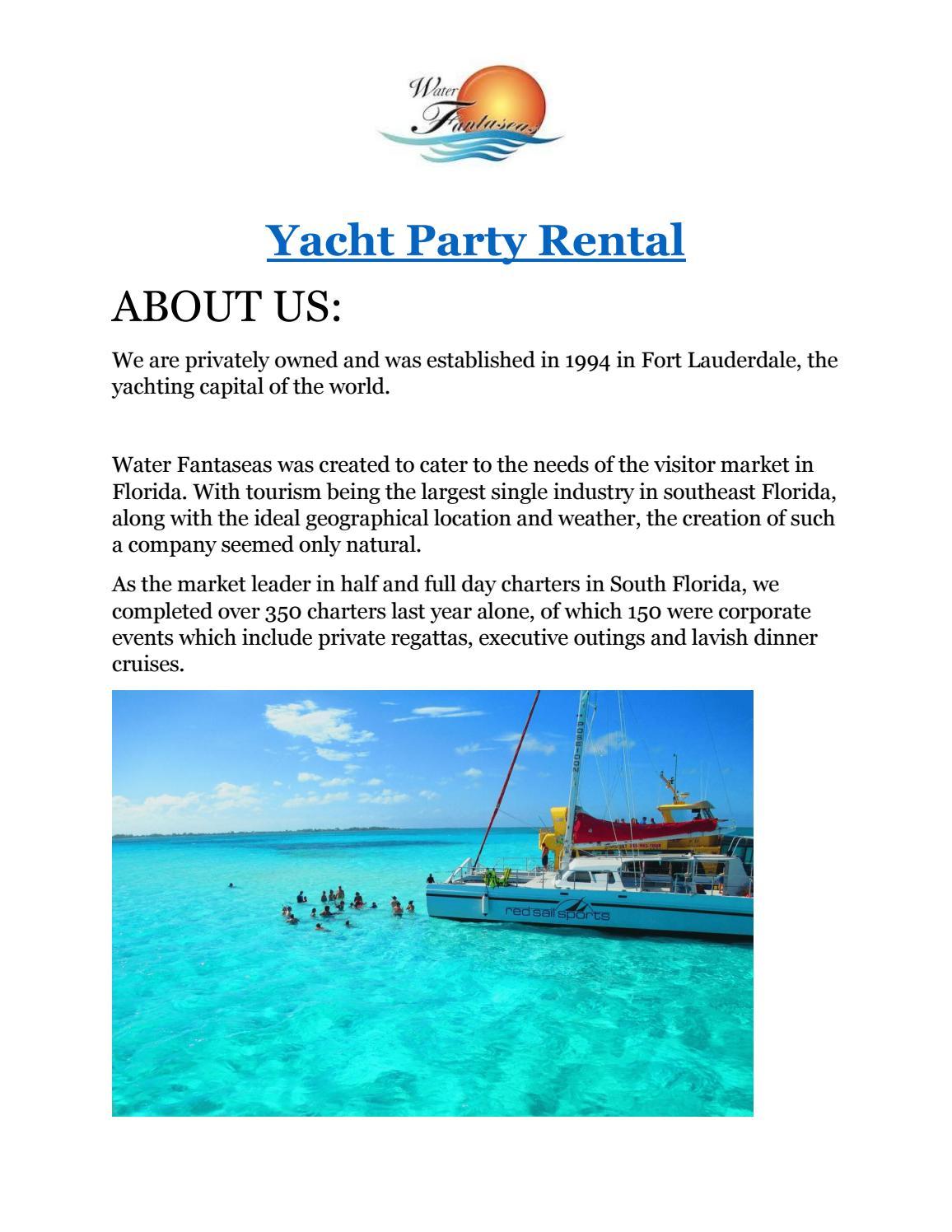 Yacht Party Rental Waterfantaseas By Evan Ward Issuu