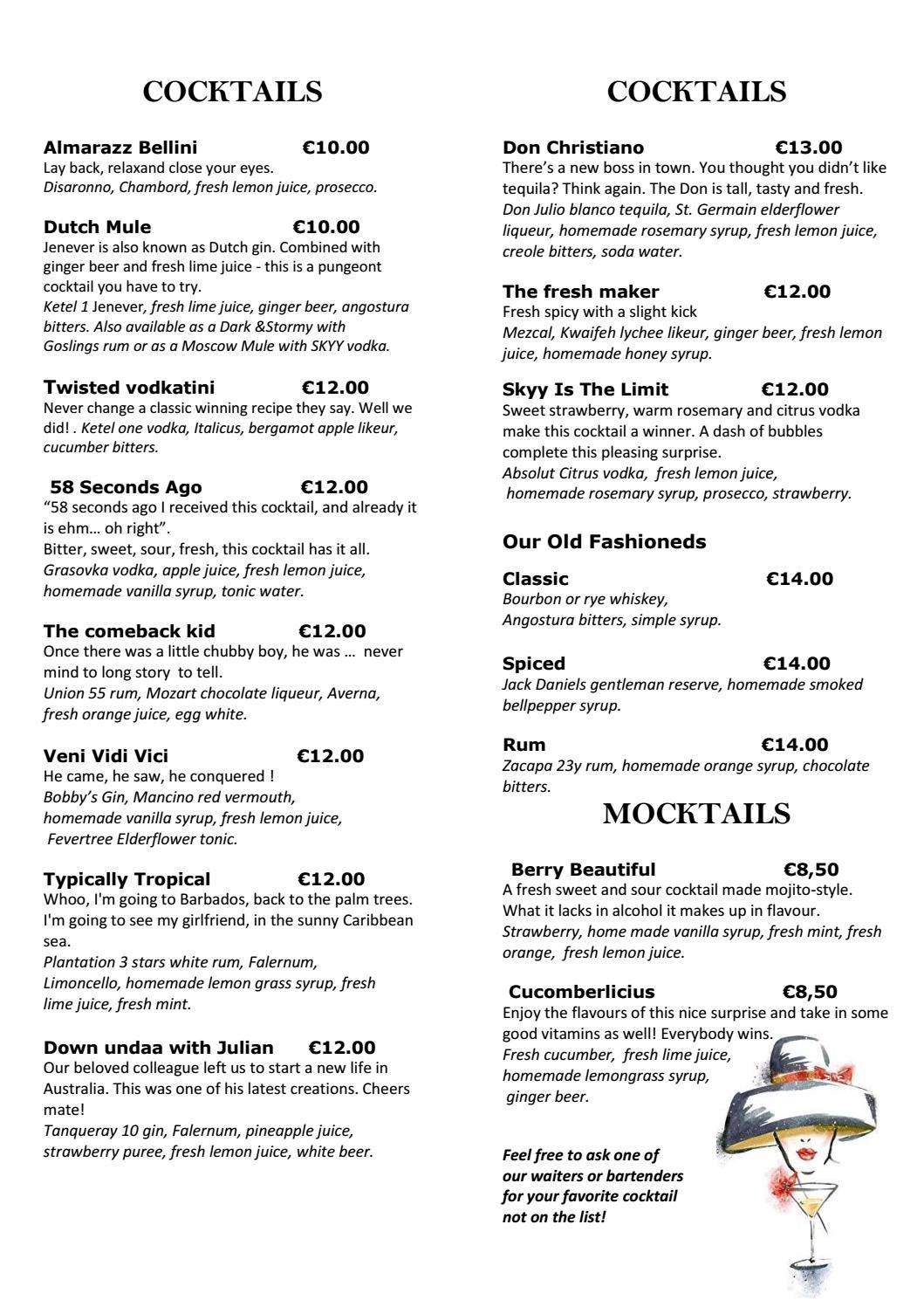 0bce723258 SKYY Bar Amsterdam Cocktails by WestCord Hotels BV - issuu