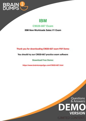Christmaas Promotions Available - Purchase IBM C9020-667