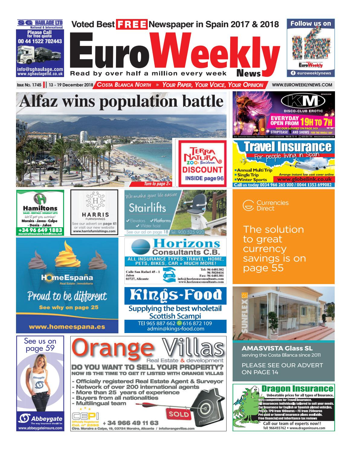 9274857db Euro Weekly News - Costa Blanca North 13-19 December 2018 Issue 1745 ...