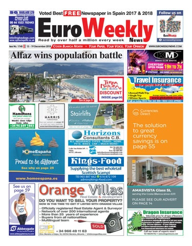 Euro Weekly News - Costa Blanca North 13-19 December 2018 Issue 1745