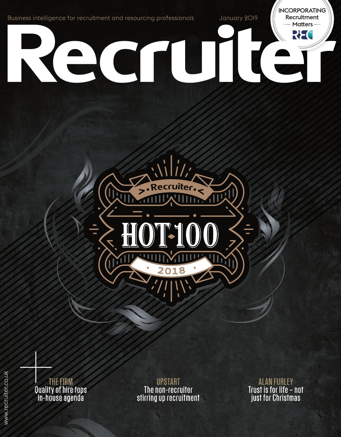 Recruiter January 2019 by Redactive Media Group - issuu