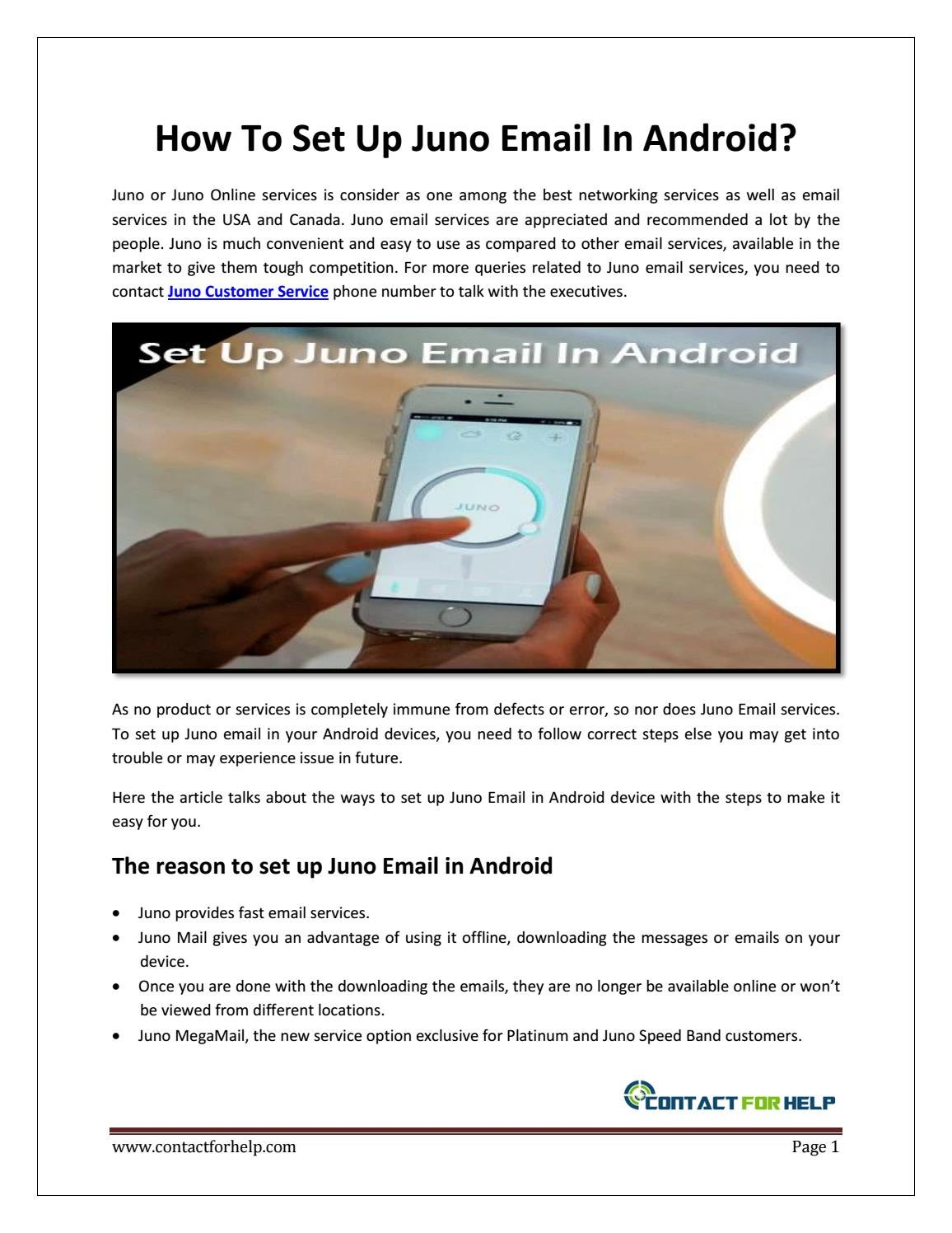 How To Set Up Juno Email In Android By Sophia Smithh Issuu