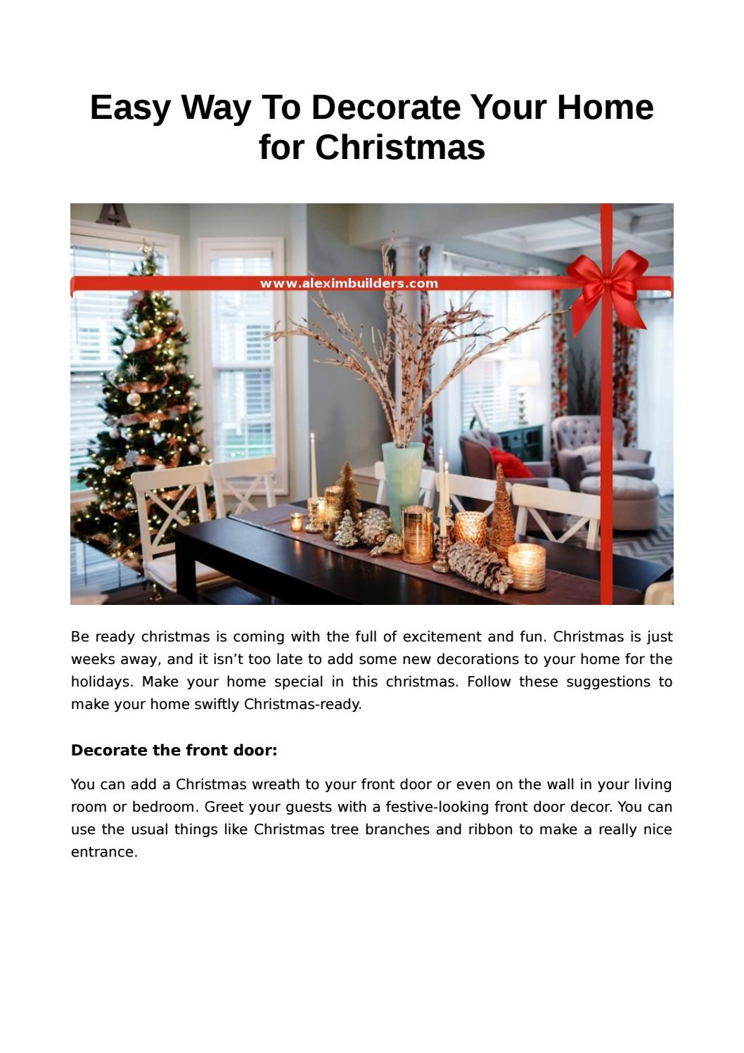 Decorate Your Home For Christmas In Southampton