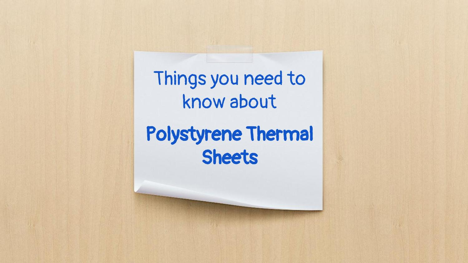 Expanded Polystyrene Thermal Sheets offered by Galaxy