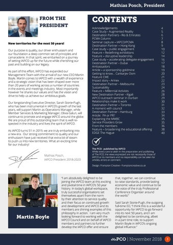 Page 3 of Stop Press: New IAPCO CEO Appointed