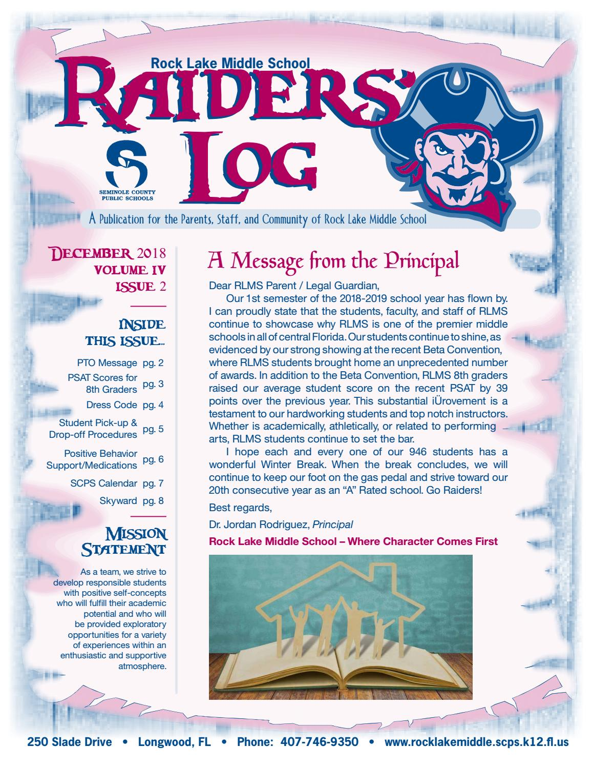 Rock Lake Middle School Newsletter By Academy Publishing Inc Issuu
