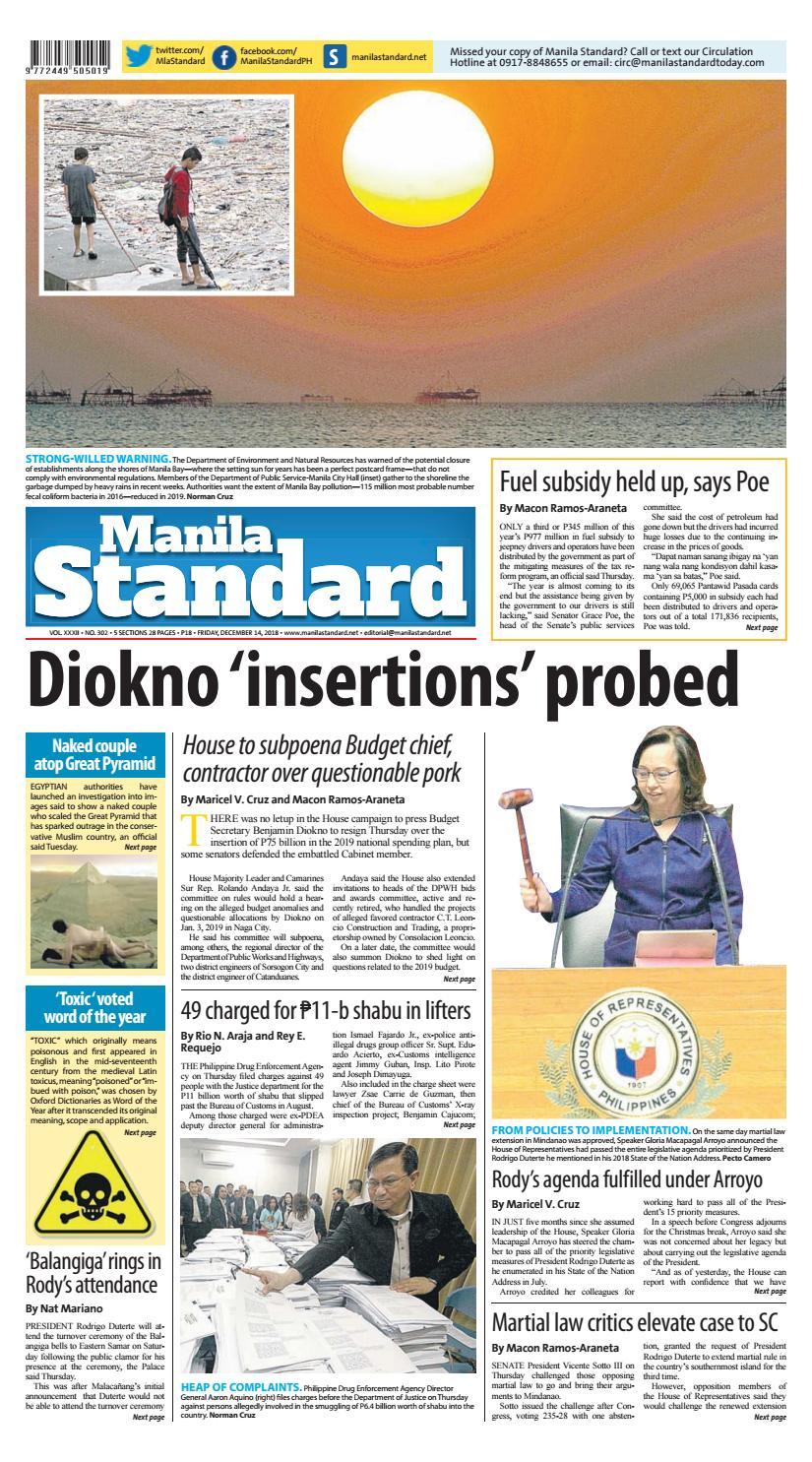 b4c4d5035e8 Manila Standard - 2018 December 14 - Friday by Manila Standard - issuu